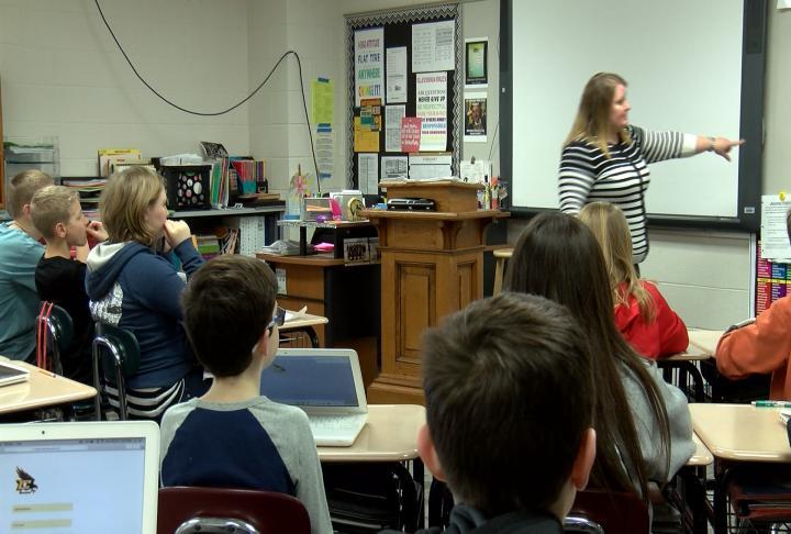 Ms. Dena Parker's classroom.
