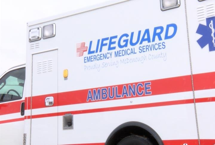 Lifeguard ambulance at MCDonough District Hospital