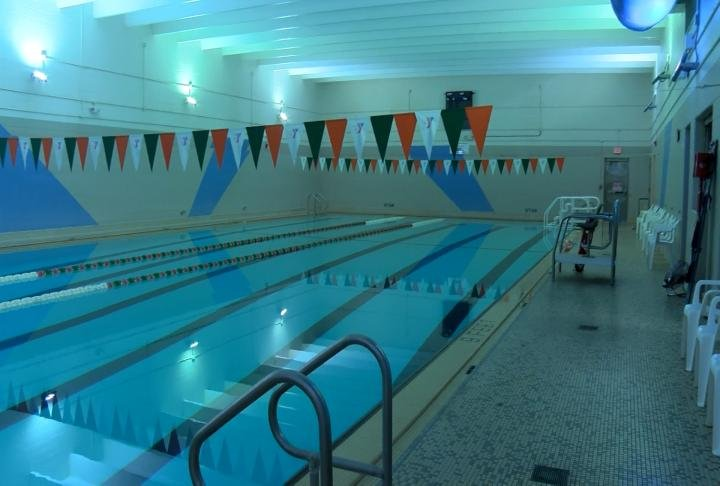 Pool located inside the YMCA.