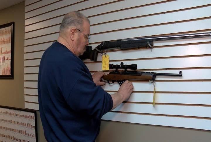 Clive Courty, owner of Gun Fun Firearms in Quincy, thinks bad people will still find a way to get their hands on guns.