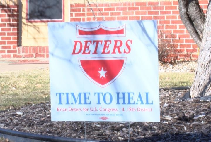 Deters campaign sign