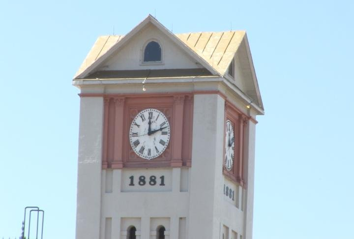 Rushville clock tower.