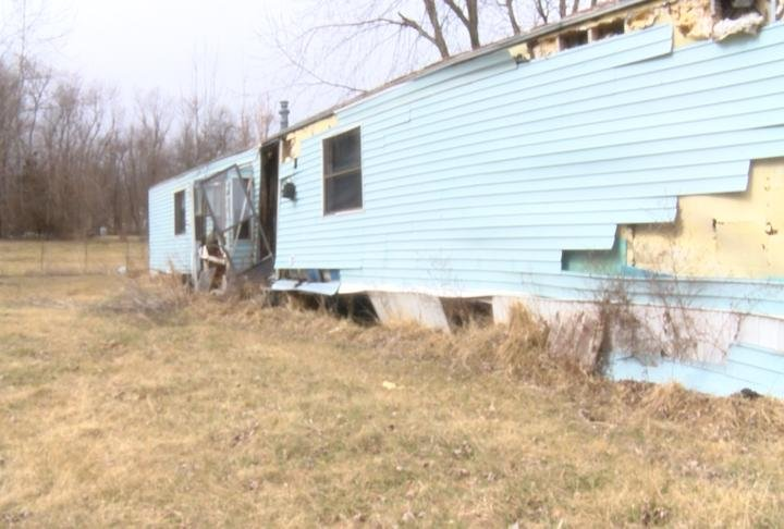 One of seven homes to be torn down in New London.