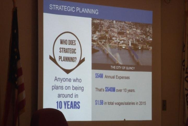 A slideshow regarding Quincy's strategic plan.
