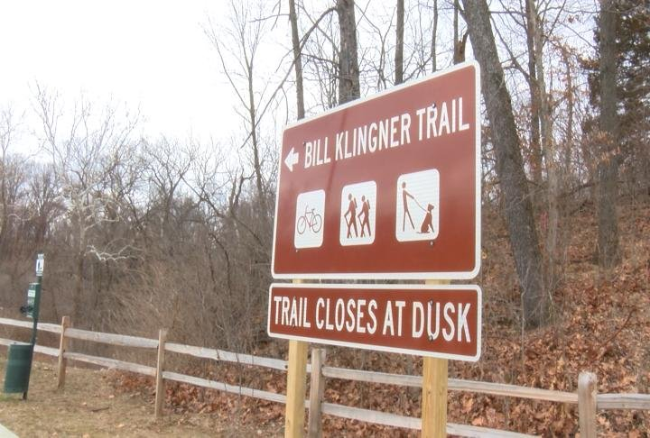 Start of the Bill Klingner Trail