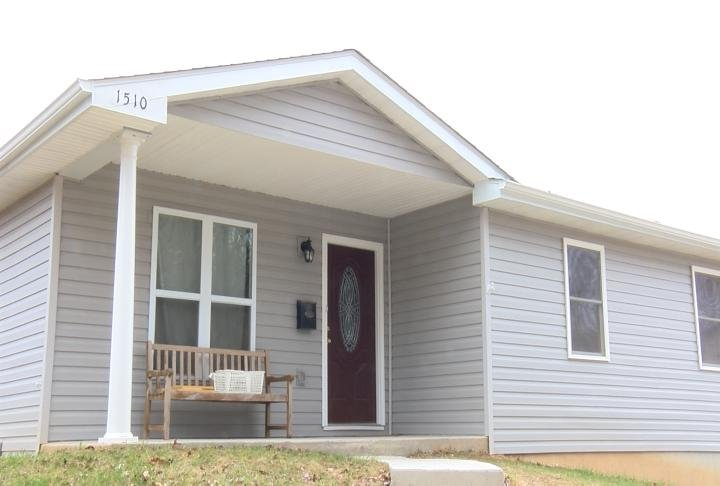 The most recent home built by Habitat for Humanity.