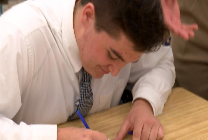 QND's Hunter Smith made his commitment to the St. Ambrose University football program official on Wednesday.