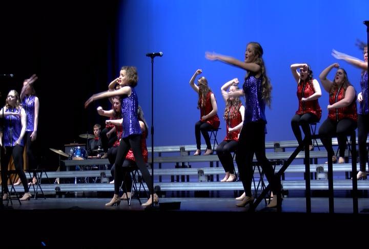Quincy high school's freshman show choir performing.