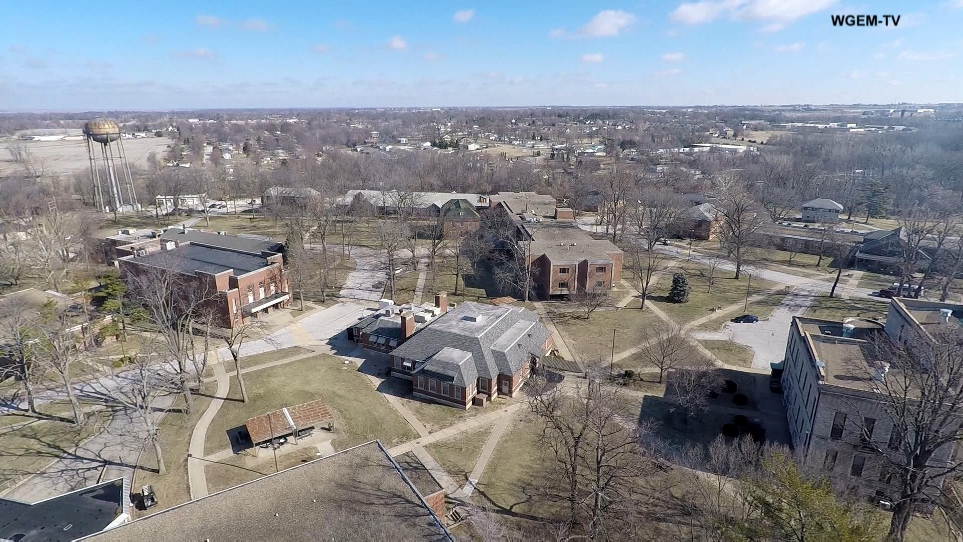 A view of the Illinois Veterans' Home from the air.