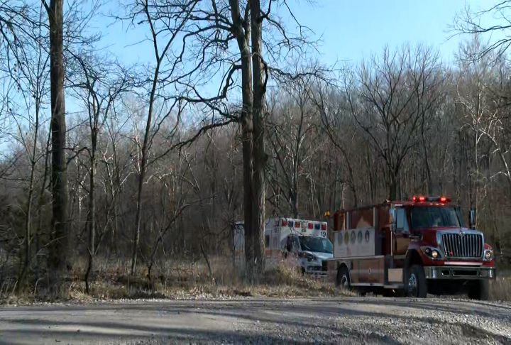 Crews at the barn fire