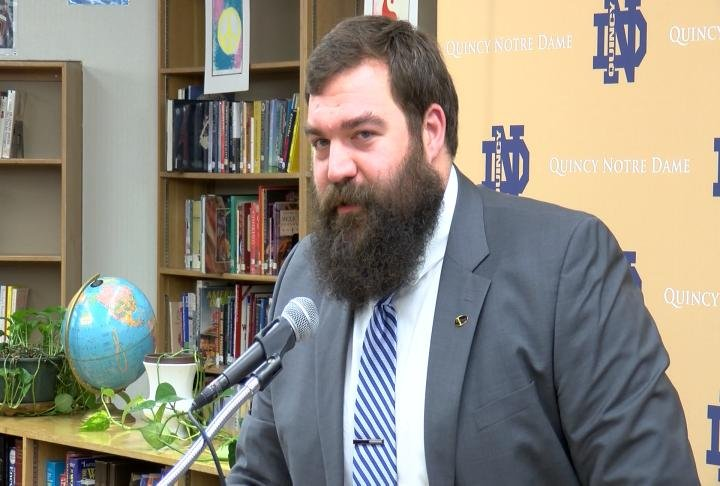 Jack Cornell was introduced as the new QND football coach on Tuesday morning.