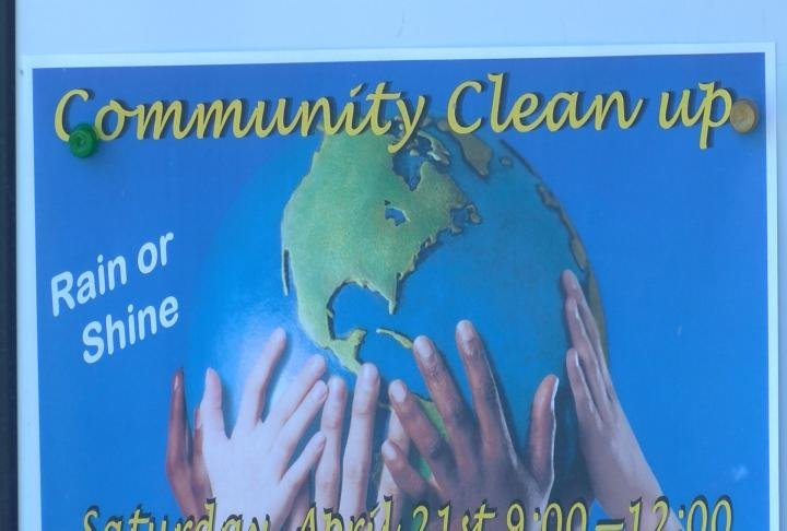 Community Clean Up from 9 a.m. - 12 p.m. on Saturday April 21.