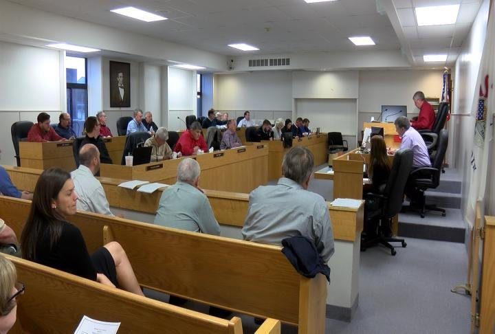 At Tuesday night's Adams County Board Meeting, members went into closed session to talk about $117,000 in construction work done on the new Adams County Jail.