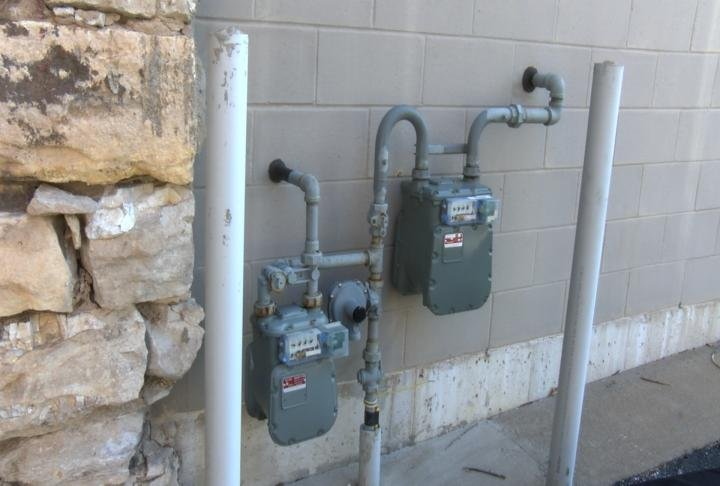 Gas meters in Quincy.