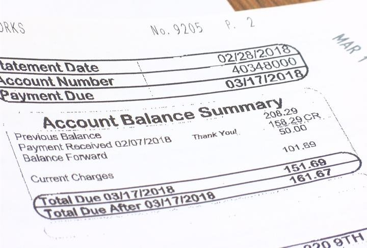 An energy bill similar to one you would bring when applying for the program.