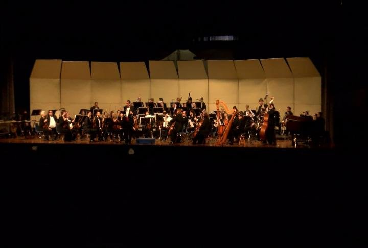 The Quincy Symphony Orchestra performs for students from across the Tri-States.