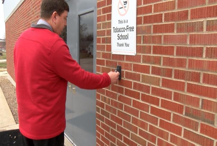 Kracht said entrances to the schools are becoming more secure.