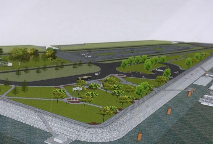 Artist renderings of the new riverfront