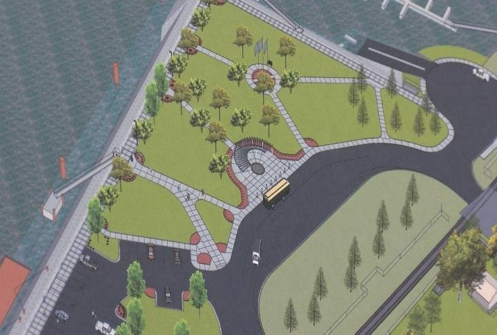 Another artist rendering of changes expected at a new Hannibal riverfront.