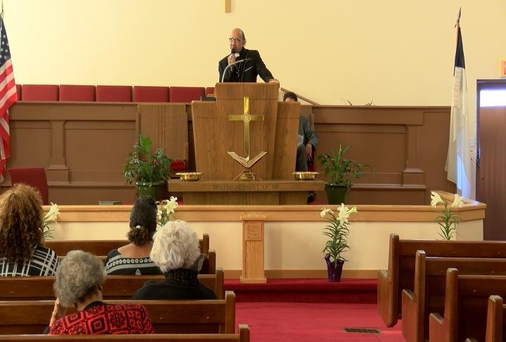 People at Bethel AME Church in Quincy held a moment of silence at 6:01 pm.