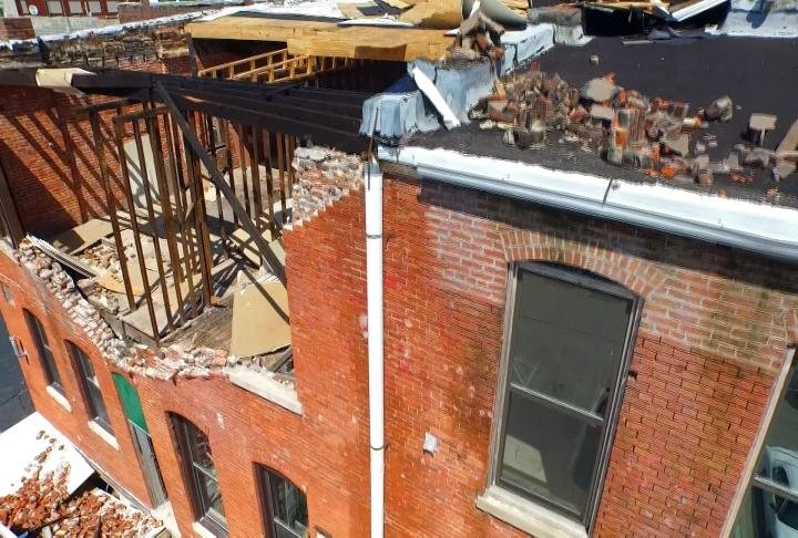 The building was damaged nearly 3 years ago.