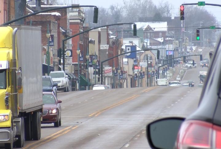 Main Street in Keokuk.