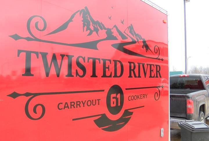 Sign on the truck, named after the Mississippi River and well traveled Highway 61.