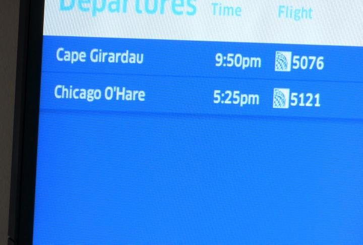 Flight times at Quincy Regional Airport.