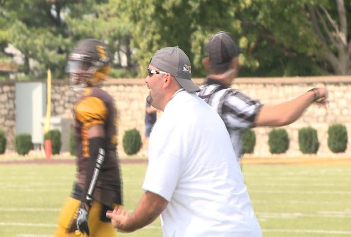 Quincy University head coach Gary Bass is in the midst of his first spring practice as head coach.