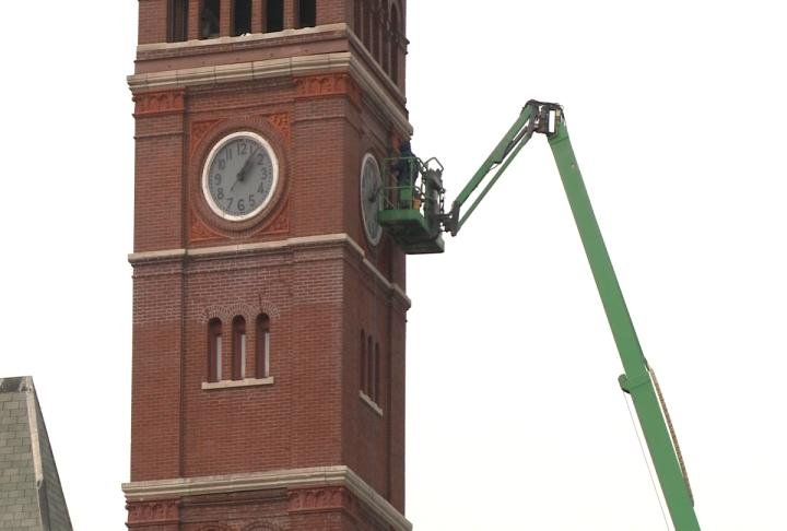 County spent more money to work on clock tower.