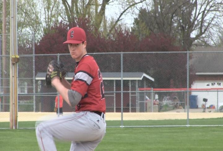 Canton's Lance Logsdon plans to pitch and hit for Quincy University.