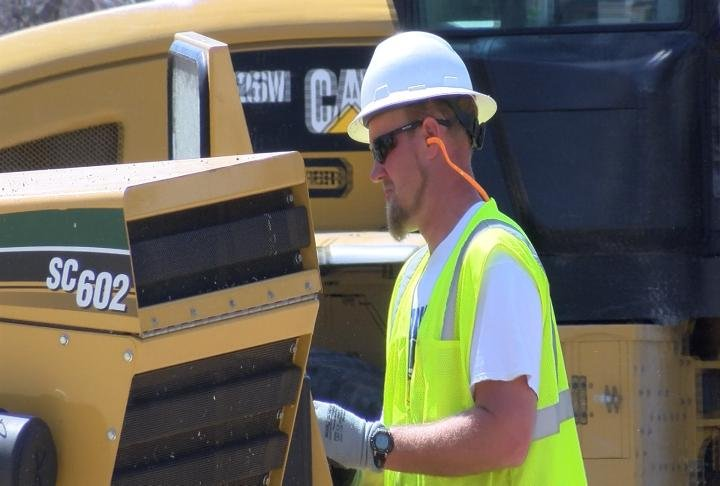 City crews were busy on Thursday, thanks to the warmer temperatures.