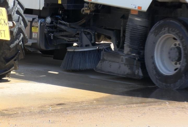 On Thursday the Central Services were able to use the street sweeper.