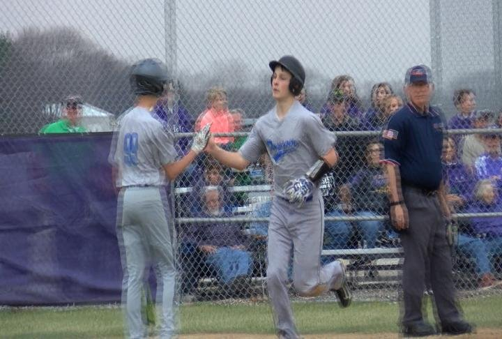 Lucas Loos homered as part of a five-run 7th inning in the Indians' victory in Rushville.