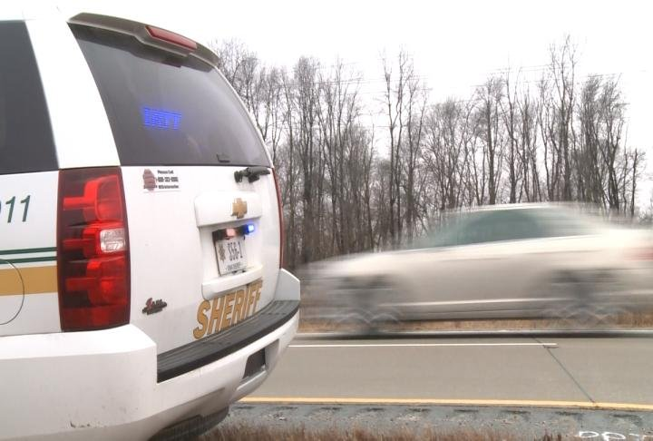Sheriff's cars dealing with high speed chases on Lee County roads.