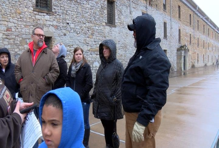 Joe Frendo and his family drove down from Grand Rapids, Michigan to get an inside look at the prison.