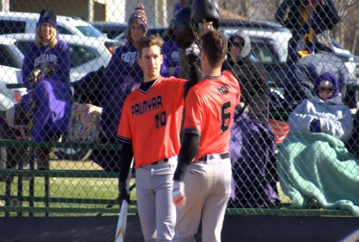Nolan Wosman and Jacob Kroeger both hit first inning HR's in Palmyra's victory over Hallsville.