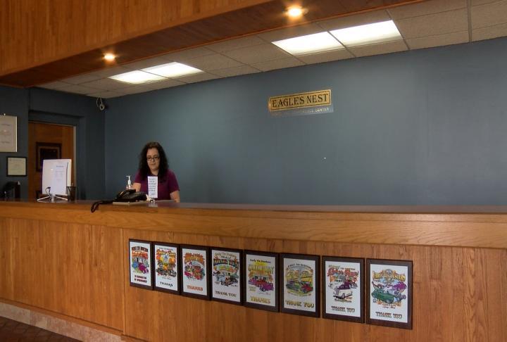 The Eagle's Nest Hotel lobby