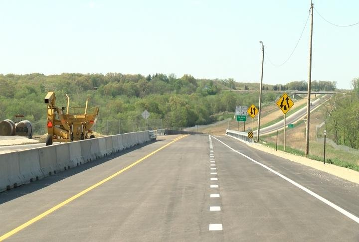 The bypass is in its final stages of construction.