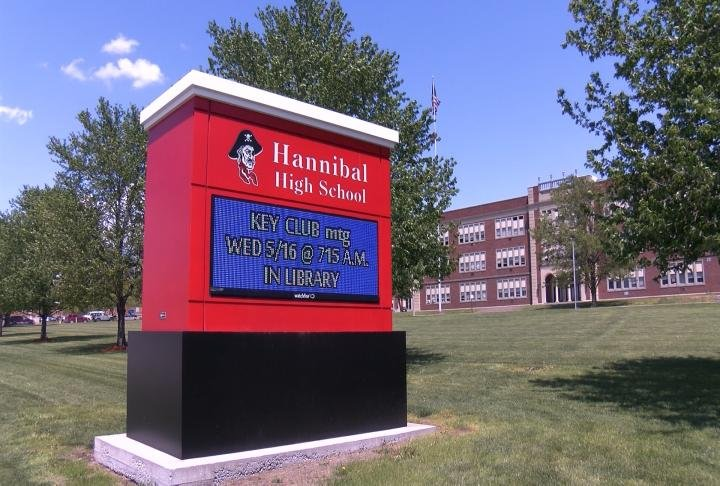 Hannibal High School rolled out the new app for students Wednesday.