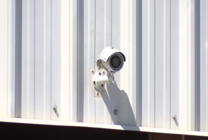 The high school has 42 cameras.
