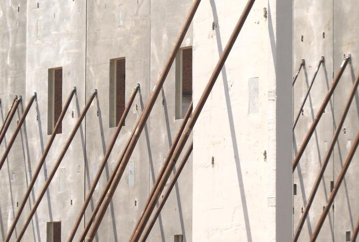 Walls were being put up for the new Adams County Jail on Thursday.