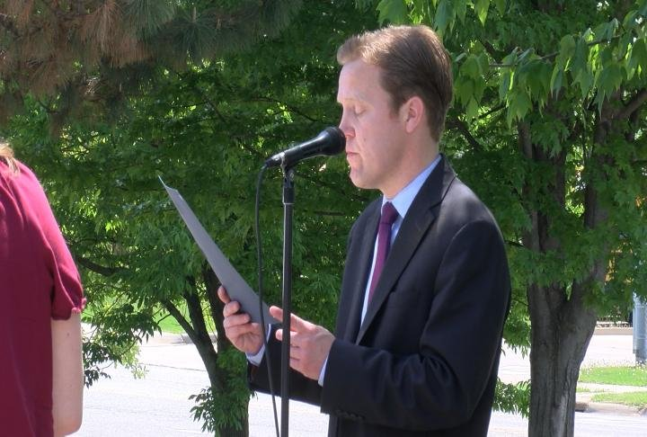 Quincy Mayor Kyle Moore proclaims May as Mental Health Month.