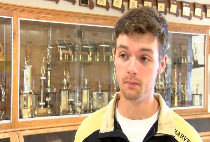 Highland's Tommy Harvey made his commitment to the John Wood baseball program official Thursday.