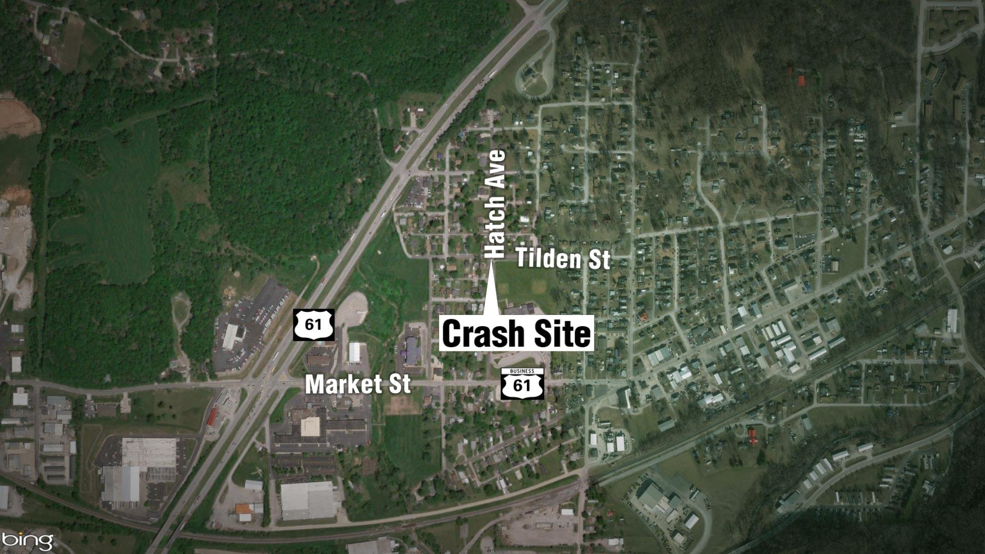 Map of crash