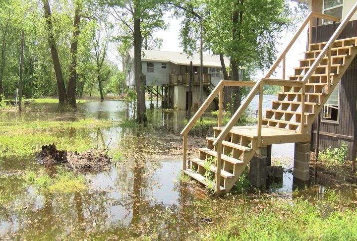 The water is already under Smith's house.