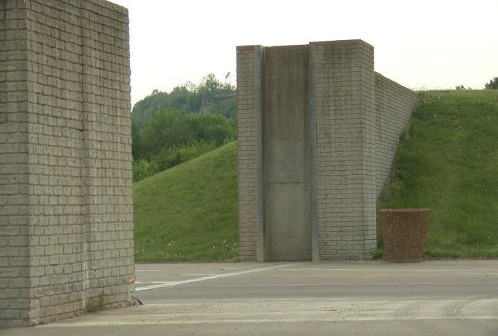 The flood gates in Hannibal will be put in if the water gets too high.