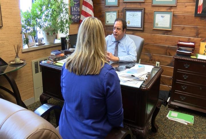 Adams County State's Attorney Gary Farha talking with WGEM's Kaylee Pfeiferling.