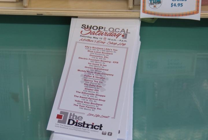 Shop Local Saturday Brochure
