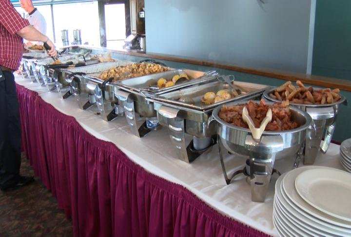 The buffet for Mother's Day brunch at The Pier in Quincy.
